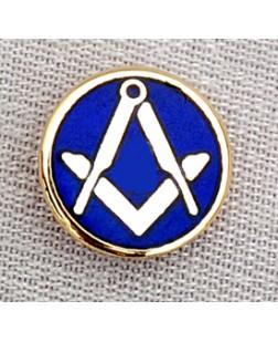 G137 Craft Lapel Badge S&c On Blue Enamel   Clutch Back Fitting