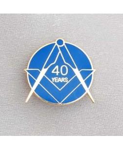 G323  Lapel Pin - Craft 40 Year