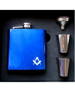 Hip Flask Gift Set With 2 Small Drinking Cups