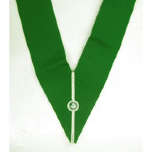 L010 Allied Degree District Collar Green With Silver B/braid